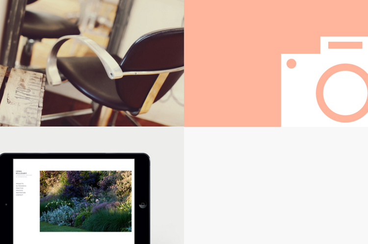 Color Blocking and Hovering Web Design